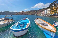Boats in Porto Santo Stefano Royalty Free Stock Image