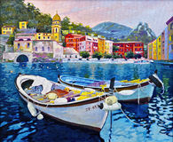 Boats in Portofino Royalty Free Stock Image