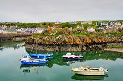 Boats in Portpatrick harbour Stock Images