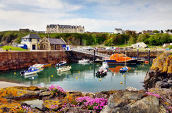 Boats in Portpatrick harbour Royalty Free Stock Photography