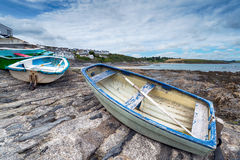 Boats at Portscatho Royalty Free Stock Image