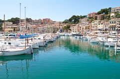 Boats in Puerto Soller, Mallorca Stock Photos