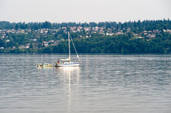 Boats on Puget Sound Royalty Free Stock Photography