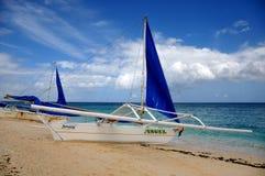 Boats in Puka Beach Royalty Free Stock Photo