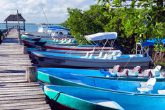 Boats in Punta Allen, Mexico Stock Photography