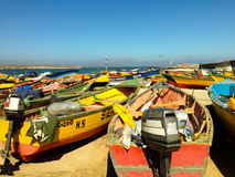 Boats in Punta de Choros, Chile Stock Images