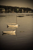 Boats in quaint harbor Royalty Free Stock Image
