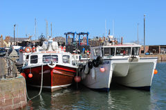 Boats at quayside, Arbroath harbour, Arbroath Royalty Free Stock Photos