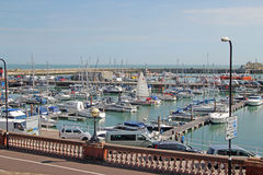 Boats At Ramsgate Harbour. This photo shows a boats and yachts in Ramsgate mariner.This photo could be used to promote Ramsgate and its mariner Stock Photos