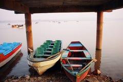 Boats in Raval Lake Stock Photo