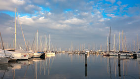 Boats in the Ravenna marina Royalty Free Stock Photos