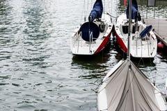 Boats ready for sail transportation stock image