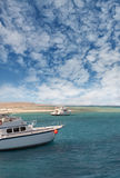 Boats on the Red Sea coast Royalty Free Stock Photo