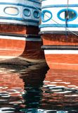 Boats reflection in royalty free stock image