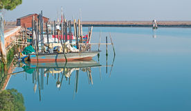 Boats reflection in Venice Royalty Free Stock Photography
