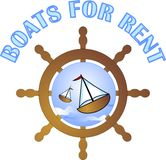 Boats for rent Royalty Free Stock Photography