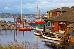 Boats rental on the Lake Union in Seattle, WA. Stock Photography