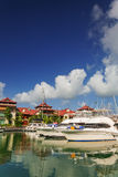 Boats and residential area at Eden Island, Seychelles Royalty Free Stock Photo