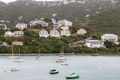 Boats and Resorts in St Thomas Stock Photo