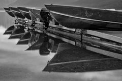 Boats resting on Dock Royalty Free Stock Photography