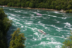Boats on the Rhine River Stock Images