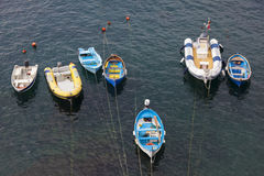 Boats in Riomaggiore, La Spezia Royalty Free Stock Photography