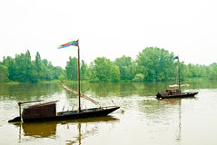 Boats in the river royalty free stock photography