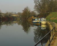 Boats on the river Avon. Royalty Free Stock Photography