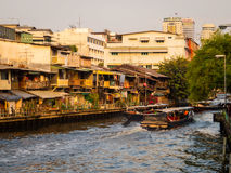 Boats on a river in Bangkok Stock Photo