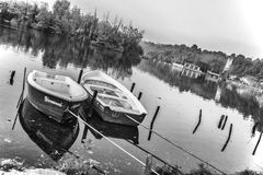Boats on a River Royalty Free Stock Photography