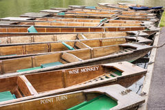 Boats On The River Cam Stock Photos