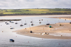 Boats on River Camel Royalty Free Stock Photo