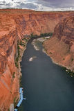 Boats on the river Colorado. Royalty Free Stock Images