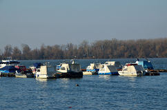 Boats on river Danube Royalty Free Stock Images