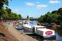 Boats on River Dee, Chester. Royalty Free Stock Photography
