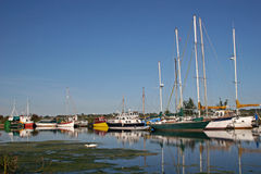 Boats on River Exe Royalty Free Stock Images