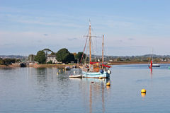 Boats on River Exe Royalty Free Stock Photos