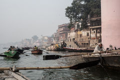 Boats at the river ganges Stock Image