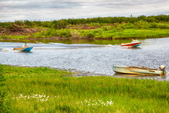 Boats  on the river Royalty Free Stock Photo