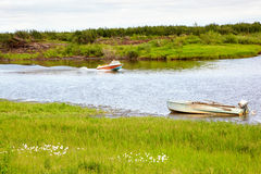 Boats  on the river Stock Image
