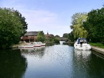 Boats on river, Norfolk Broads Royalty Free Stock Image