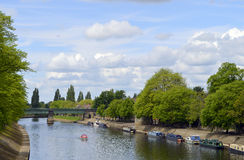 Boats on the river Ouse Stock Images