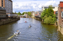 Boats on the river Ouse Royalty Free Stock Photos