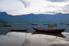 The boats on the river, sea, lake Royalty Free Stock Images