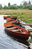Boats on a river Stock Image