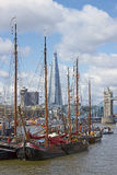 Boats on the River Thames Stock Photography