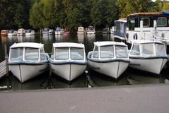 Boats, River Thames Bank, Henley-on-Thames, Oxfordshire, England. Royalty Free Stock Photography