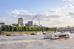 Boats on River Thames in London Stock Images