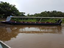 Boats On the River, Tortuguero. On the River, Tortuguero, Costa Rica royalty free stock photo