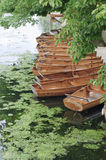Boats on the river, UK. Boats on the river Stour, Dedham, Essex, UK Royalty Free Stock Photo